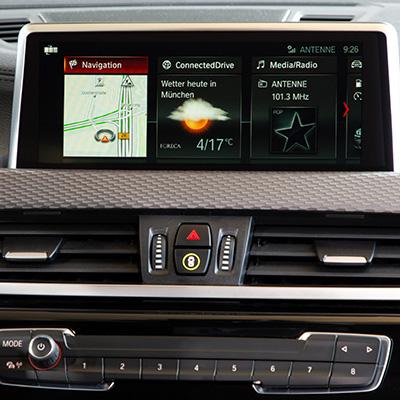 BMW X2 Navigatiepaneel